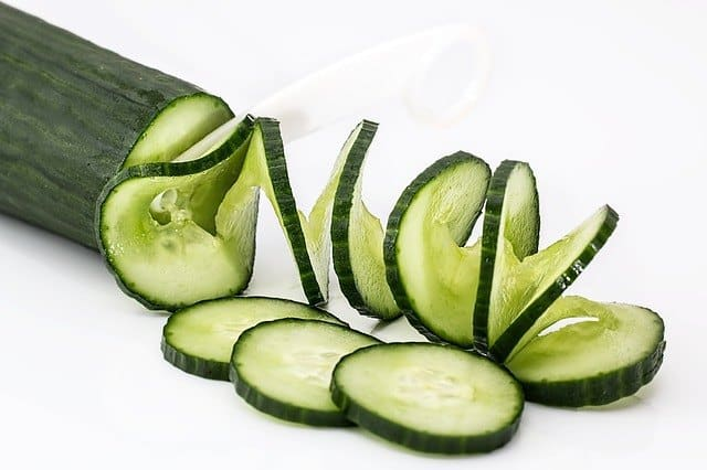 Picture of sliced cucumber