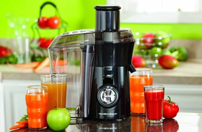 The Hamilton Beach juicer