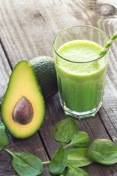 Avocado, Spinach & Bee Pollen Green Smoothie