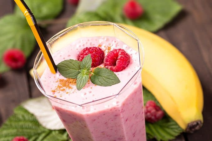 Raspberry Orange Bee Pollen Smoothie