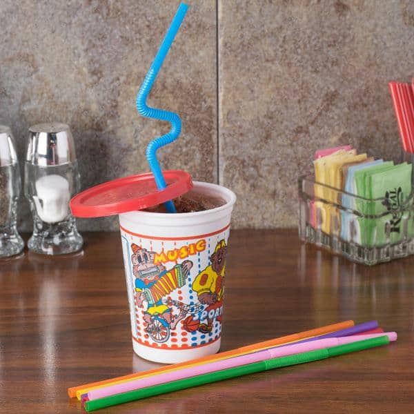 Kids fun cup with lid and straw