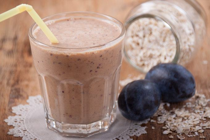 smoothie with oats