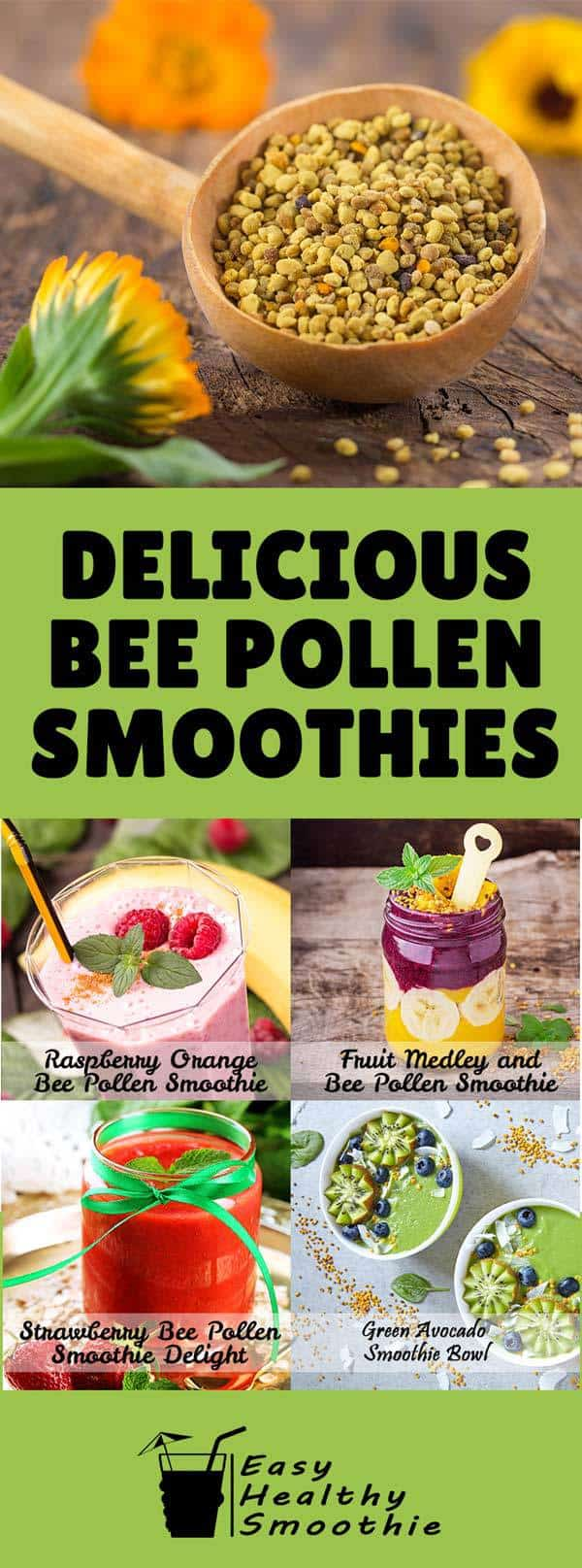 bee pollen smoothies pin