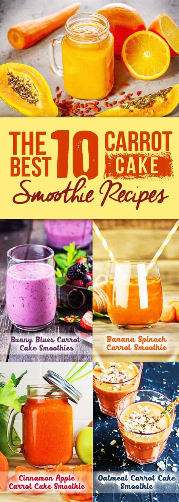 carrot cake smoothies pin