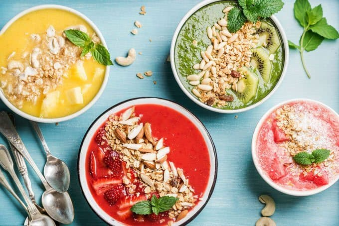 Selection of Different Smoothie Bowls