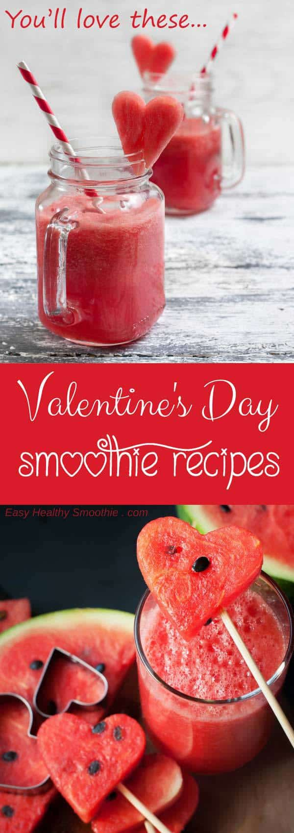 valentines day smoothies pin