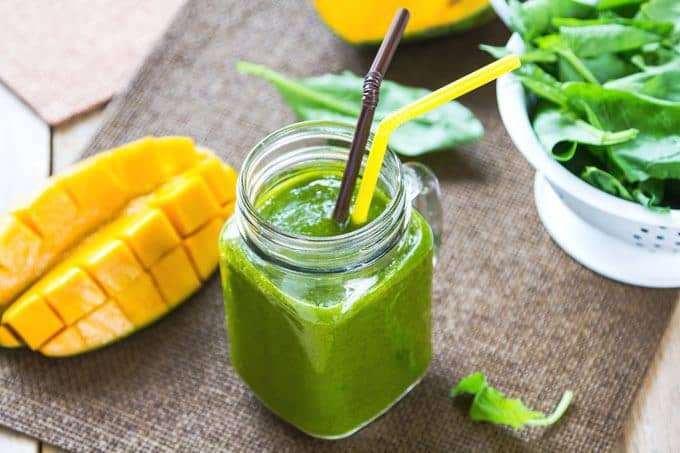 Mango-Avocado Green Tea Smoothie