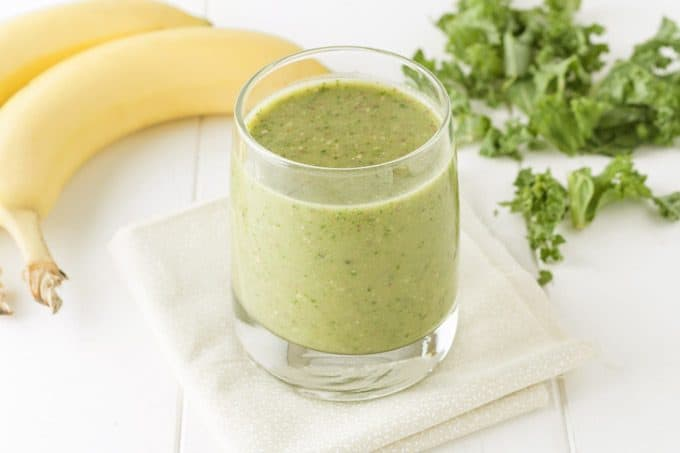 Sweet-Dream-Time-Kiwi Banana Kale Smoothie