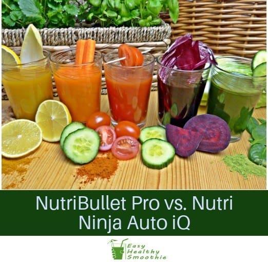 NutriBullet Pro vs. Nutri Ninja Auto iQ
