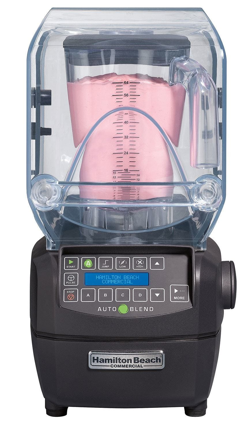Photo of the Hamilton Beach commercial blender with a smoothie